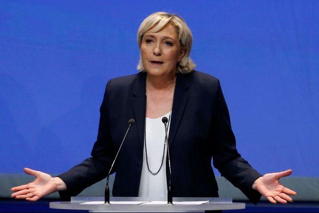 Marine Le Pen lors du XVIème congrès du FN à Lille, le 11 mars dernier.