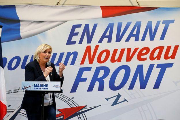 Marine Le Pen en février 2018, à Laon.