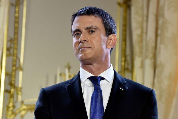 Le Premier ministre Manuel Valls le 28 janvier lors des voeux à la presse.