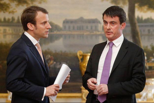 Emmanuel Macron et Manuel Valls, le 7 mai dernier, à l'Elysée.