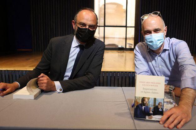 Edouard Philippe et Gilles Boyer, à Bordeaux en mai.