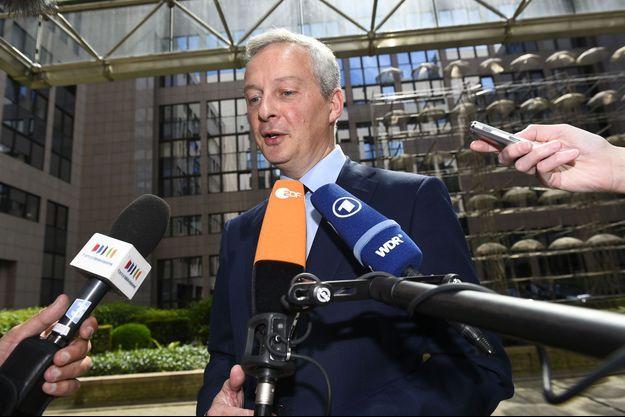 Bruno Le Maire à Bruxelles lundi pour la réunion de l'Eurogroupe.
