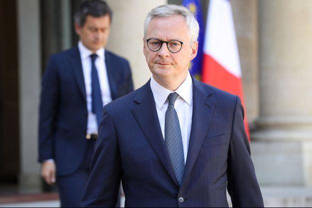 Bruno Le Maire et Gérald Darmanin, ici à l'Elysée en avril 2020.
