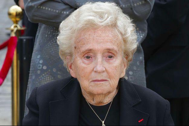 Bernadette Chirac le 5 juillet 2017 lors de l'hommage à Simone Veil aux Invalides.