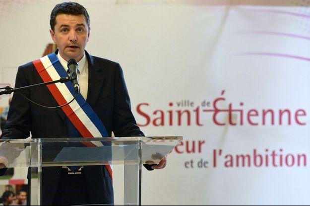 Gaël Perdriau, maire de Saint-Etienne, en 2014.