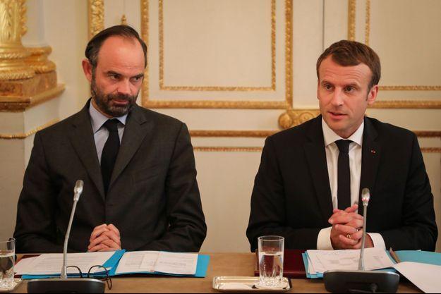 Edouard Philippe et Emmanuel Macron à l'Elysée.
