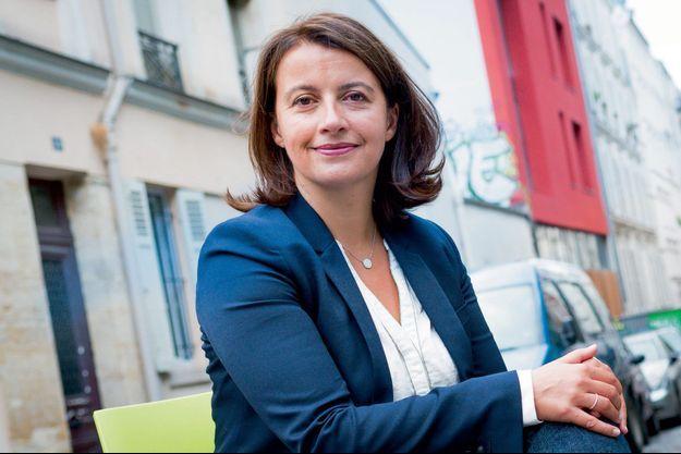 Cécile Duflot dans sa circonscription parisienne.