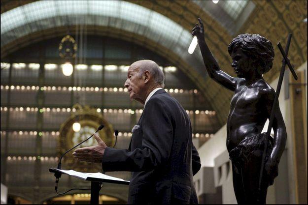 Valéry Giscard d'Estaing au Musée d'Orsay.