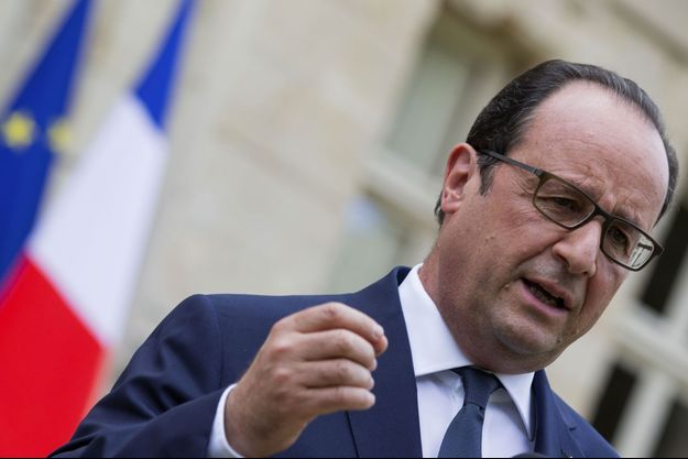 François Hollande à l'Elysée le 23 juillet.