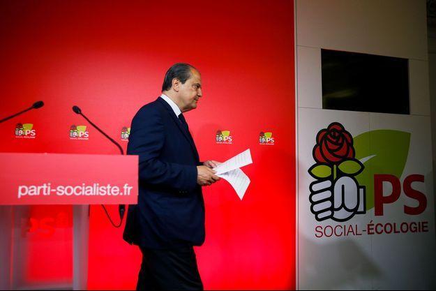 Jean-Christophe Cambadélis dimanche soir au siège du Parti socialiste.