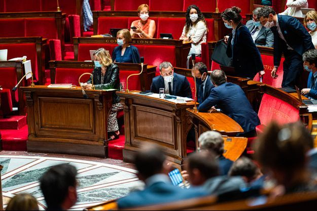 A l'Assemblée nationale, jeudi, durant le débat sur le projet de loi anti-Covid.