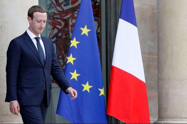 Mark Zuckerberg, en mai 2018, avait déjà été reçu à l'Elysée.