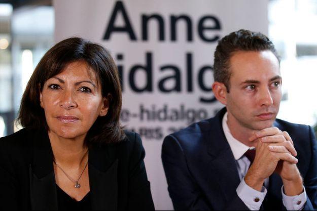 Anne Hidalgo et Ian Brossat en octobre dernier, à Paris.