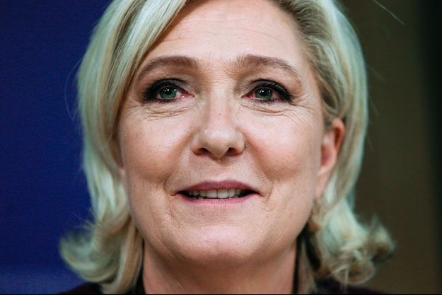 Marine Le Pen à Bruxelles, jeudi.