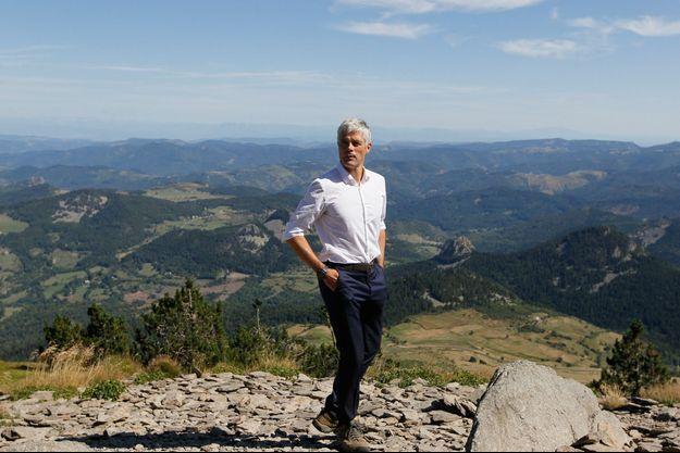 Laurent Wauquiez ici au Mont Mezenc, près du Puy-en-Velay, ici en août 2018.