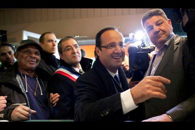 François Hollande le 20 février à Bonneuil-sur-Marne.