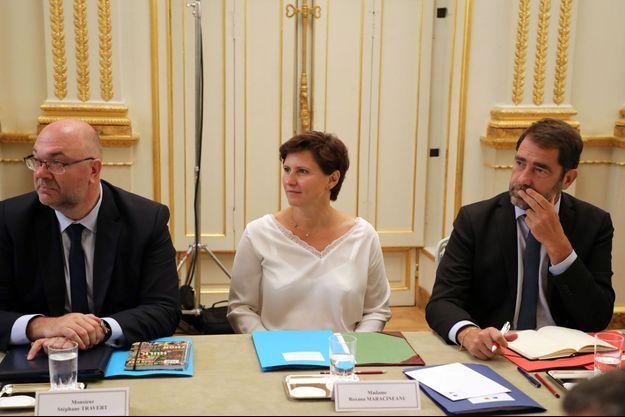 Roxana Maracineanu lors de son premier Conseil des ministres.