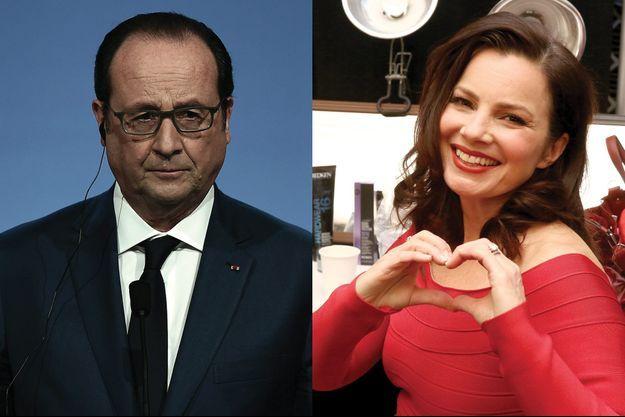 François Hollande et Fran Drescher.