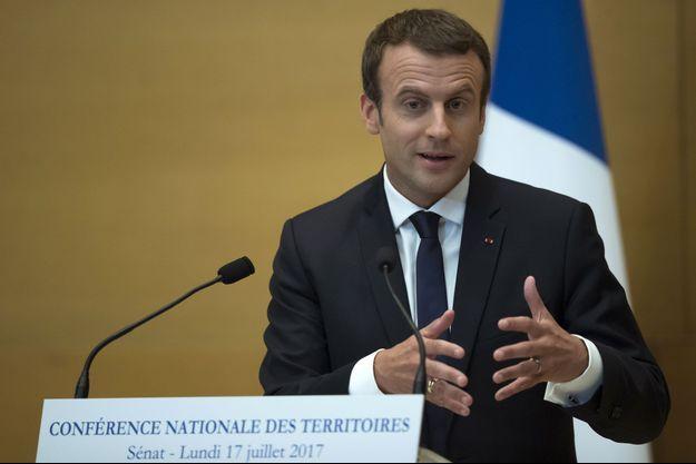 Emmanuel Macron au Sénat lundi.