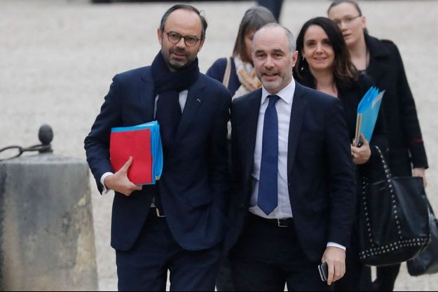 Edouard Philippe et Gilles Boyer, ici en 2017, à l'Assemblée nationale.