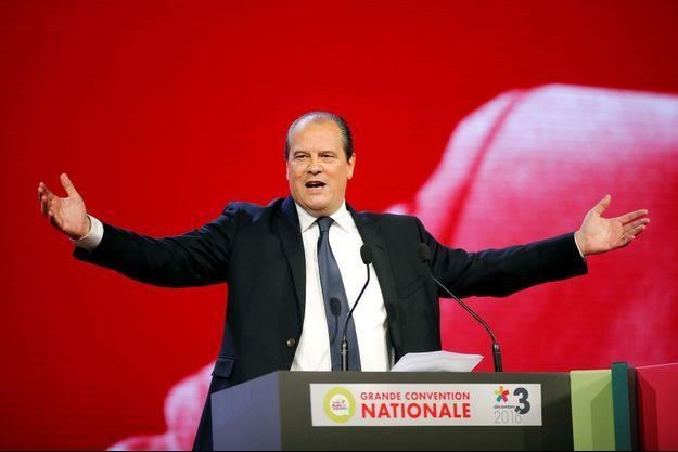 le premier secrétaire Jean-Christophe Cambadélis à la tribune.