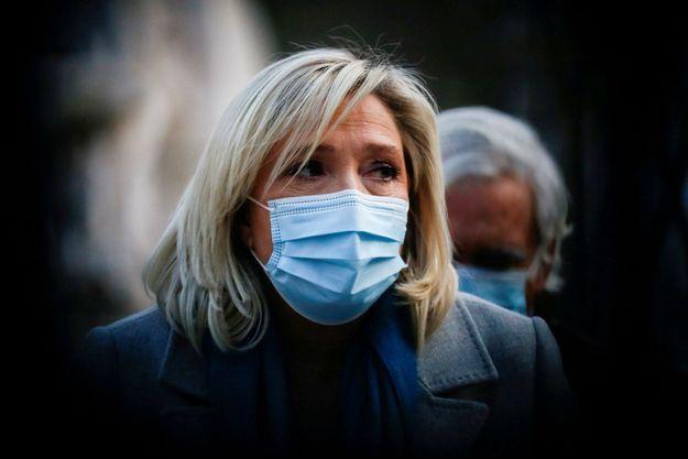 Marine Le Pen , ici au Portugal , en janvier dernier.
