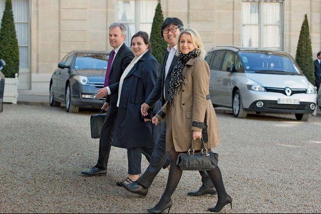 François de Rugy, Emmanuelle Cosse, Jean-Vincent Placé et Barbara Pompili.