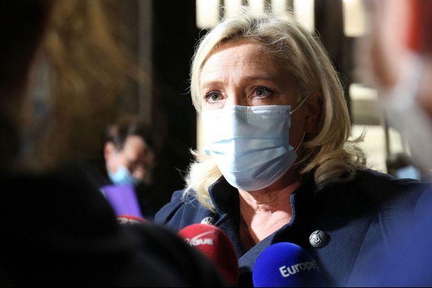 Marine Le Pen la semaine dernière au ministère de la Santé