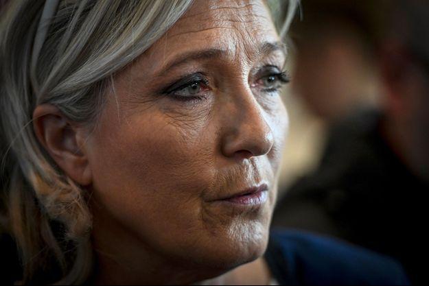 Marine Le Pen à Chassieu (Rhône), jeudi dernier.