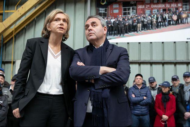 Valérie Pécresse et Xavier Bertrand dans les Hauts de France en février 2019.