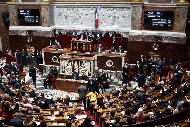 L'Assemblée nationale lors du vote du traité de libre-échange entre l'UE et le Canada.