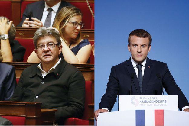 Jean-Luc Mélenchon et Emmanuel Macron.