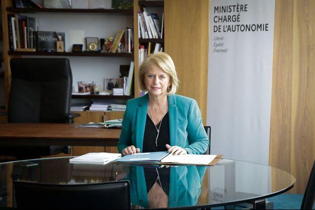 Brigitte Bourguignon dans son bureau du ministère, le 3 février.