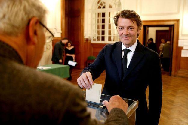 François Baroin a voté à Troyes.