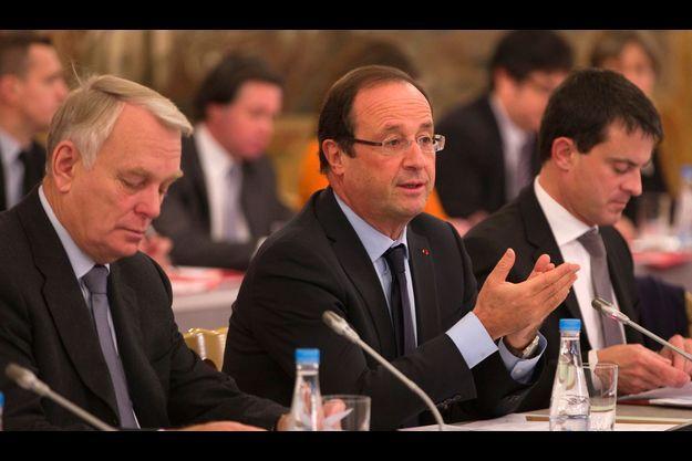 Jean-Marc Ayrault et François Hollande.