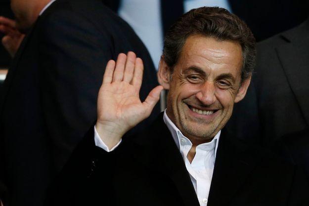 Nicolas Sarkozy, lors du quart de finale aller de la Ligue des Champions entre le PSG et Chelsea, le 2 avril dernier.