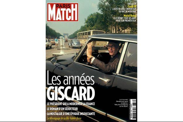 Le 27 mai 1974. Quelques jours après son élection, Valéry Giscard d'Estaing sort de l'Elysée.