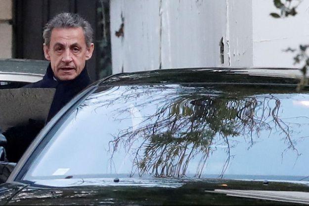 Nicolas Sarkozy, chez lui fin mars.