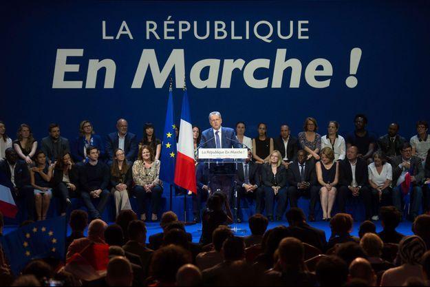Richard Ferrand lors d'un meeting commun des 90 candidats LREM de l'Île-de-France, le 23 mai à Aubervilliers.