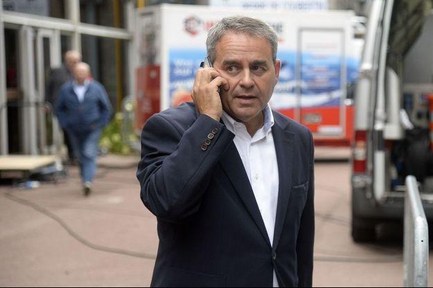 Xavier Bertrand en août dernier au Touquet.