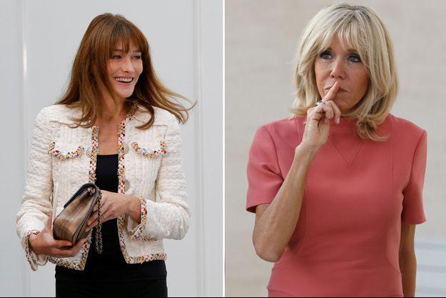 """Carla Bruni évoque Brigitte Macron, """"une femme gentille, chaleureuse et humaine, facile à aimer""""."""
