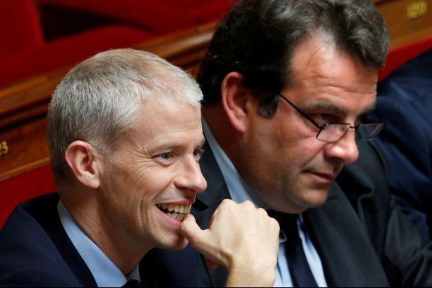 Franck Riester et Thierry Solère, leaders du groupe Les Constructifs/UDI à l'Assemblée.