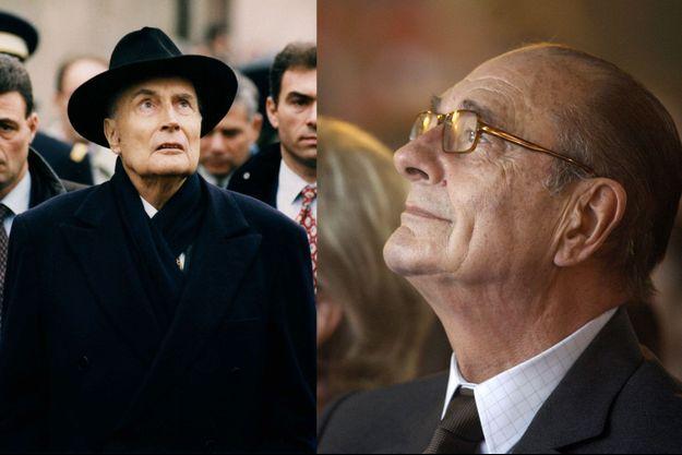 François Mitterrand le 18 novembre 1994 à Chartres et Jacques Chirac le 20 décembre 2006 à l'Elysée.