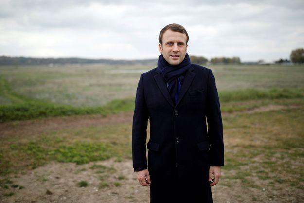Emmanuel Macron au Touquet, samedi 22 avril.