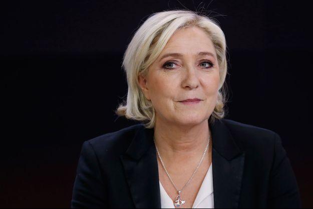 Marine Le Pen sur le plateau de France 2, le 24 avril 2017.