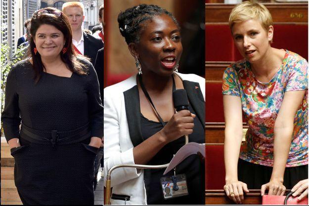 Raquel Garrido, Danièle Obono et Clémentine Autain