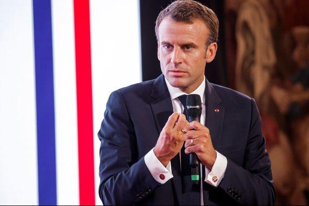 Emmanuel Macron jeudi à l'Elysée.
