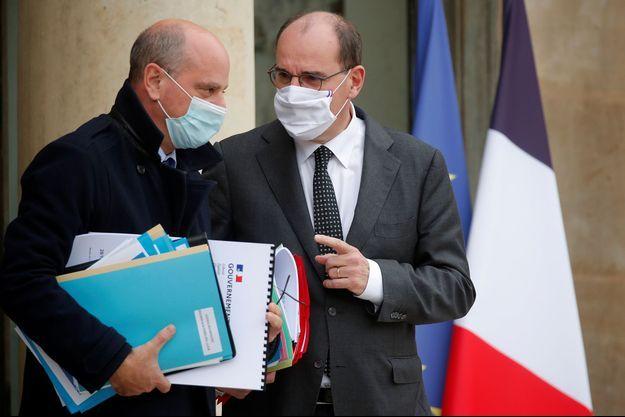 Jean-Michel Blanquer et Jean Castex