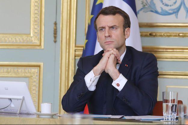 Emmanuel Macron, le 19 mars dernier à l'Elysée.