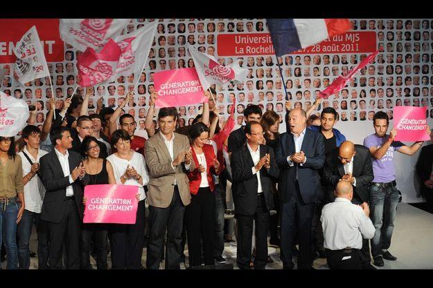 Le PS réuni à La Rochelle en août 2011.